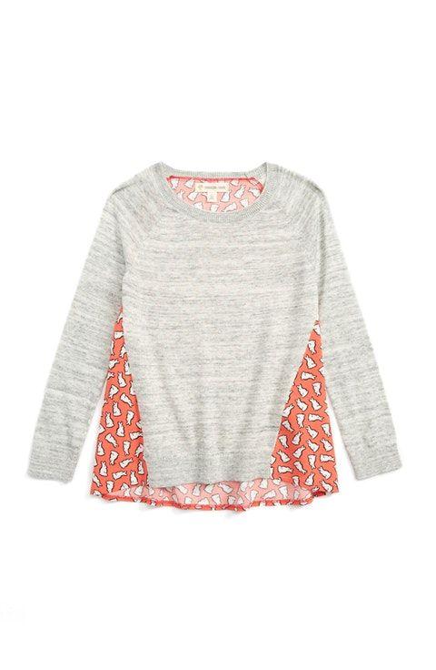 34b29a40e Tucker + Tate Mixed Media Sweater (Toddler Girls