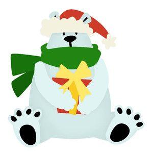 Silhouette Design Store - View Design #165148: polar bear with santa hat