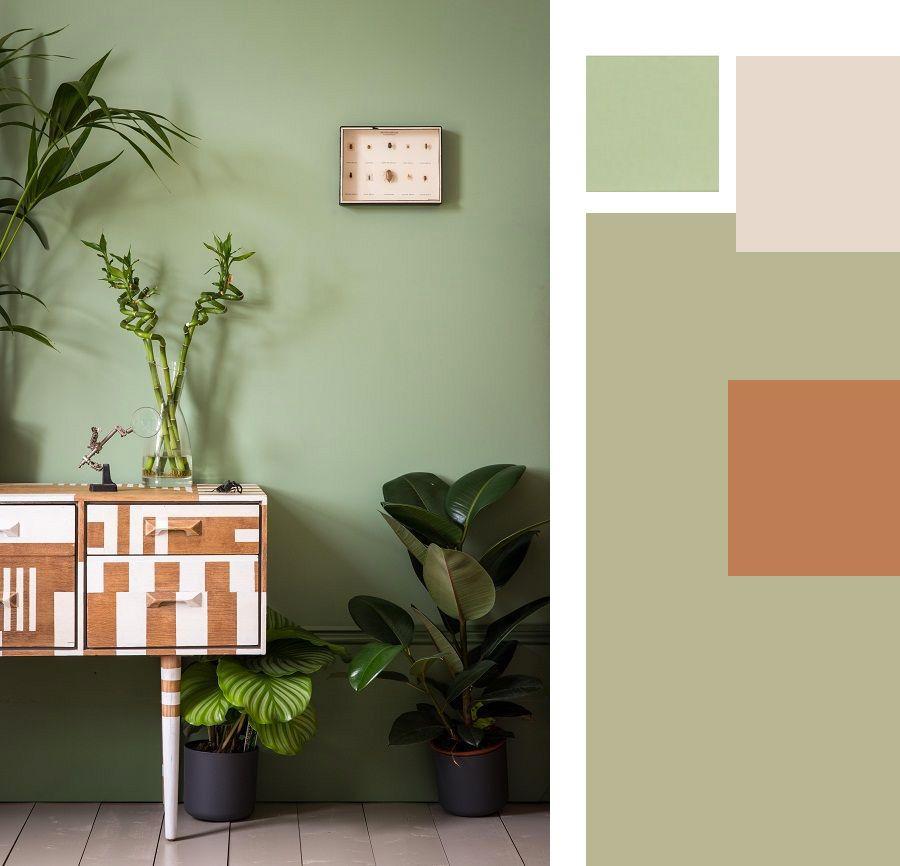 Arredare le pareti con il colore il verde salvia e un cocktail anni 50