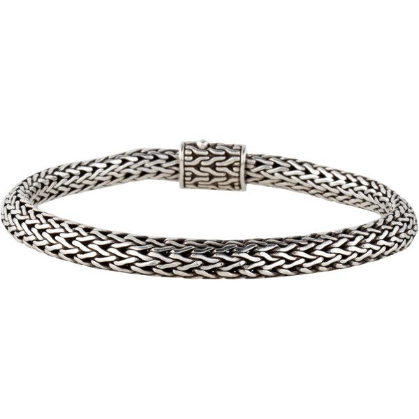 John Hardy Extra Small Classic Chain Bracelet ($225) ❤ liked on Polyvore featuring jewelry, bracelets, polish jewelry, sterling silver jewellery, john hardy jewelry, sterling silver jewelry and john hardy