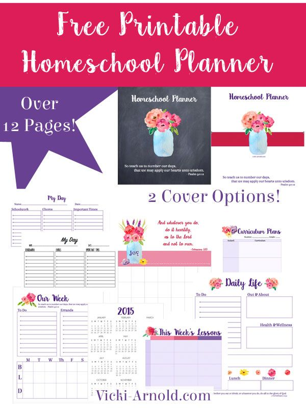 picture about Free Printable Homeschool Planner titled Printable Homeschool Planner Cost-free Homeschool Printables
