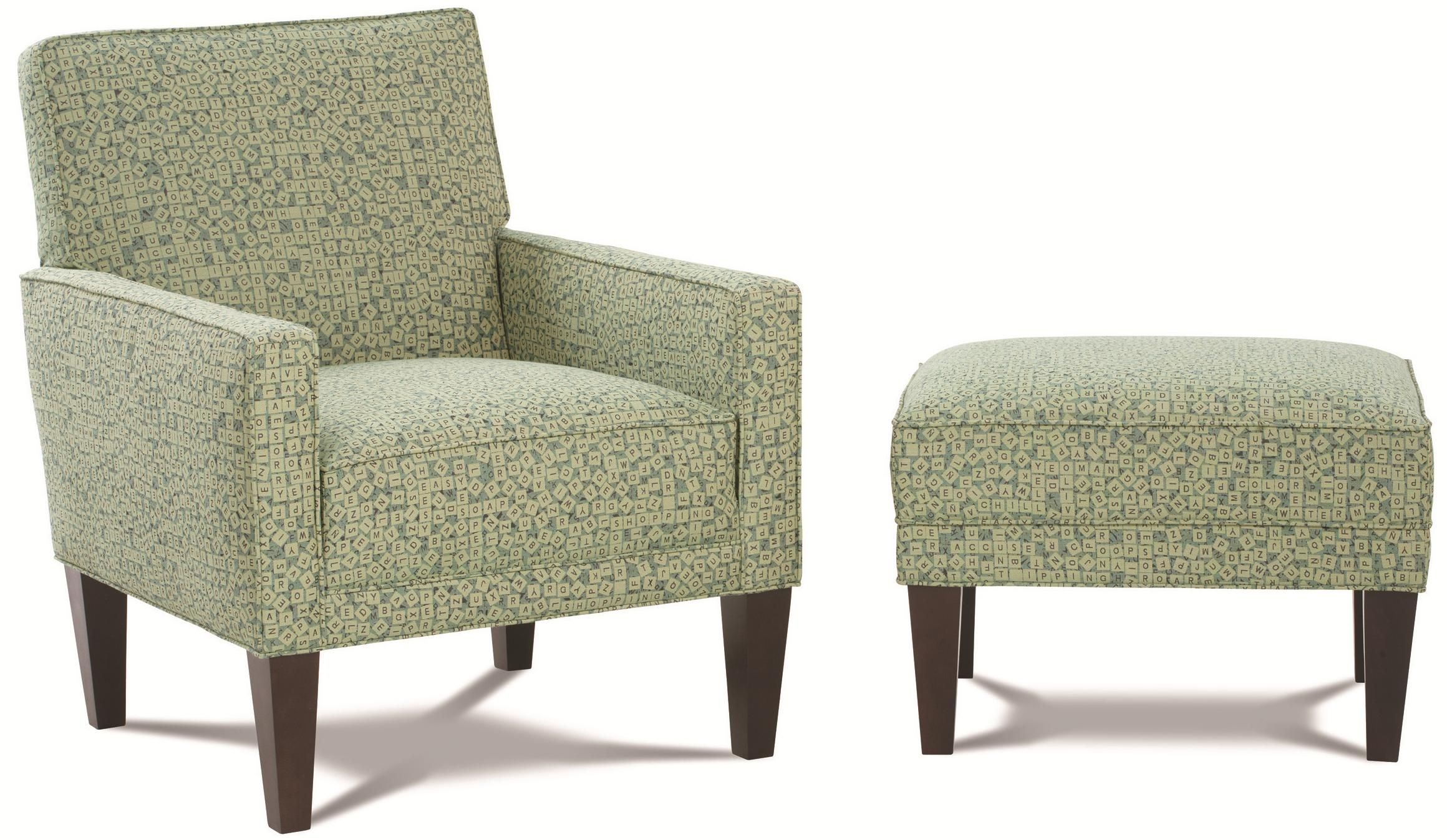 Chairs and Accents Chair and Ottoman by Rowe Chairs