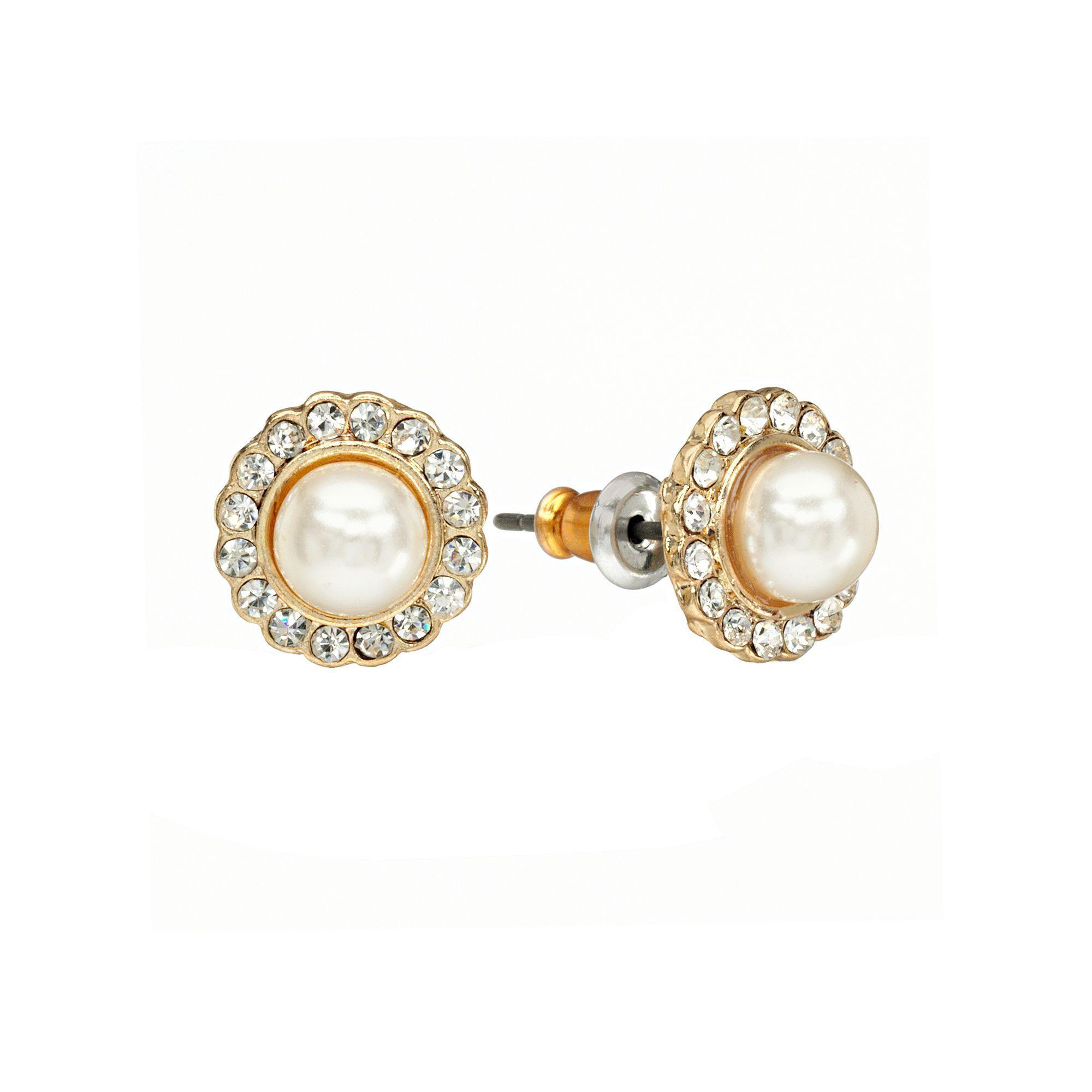 3cfb41231 LC Lauren Conrad Flower Button Stud Earrings, Women's, White