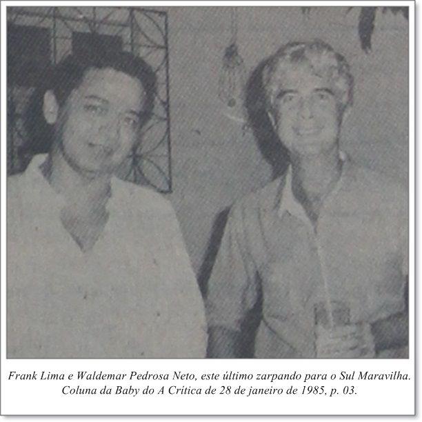 """Magaly e Marcelo Teixeira Bomfim. Coluna Gil """"Gente"""" do A Crítica de 27 de janeiro de 1985"""