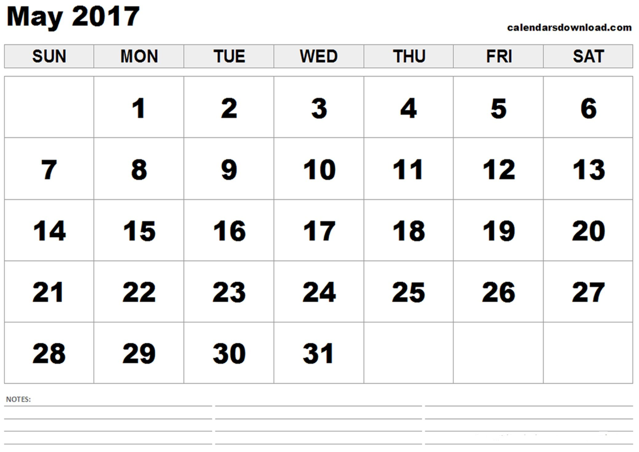 May Printable Calendar Templates