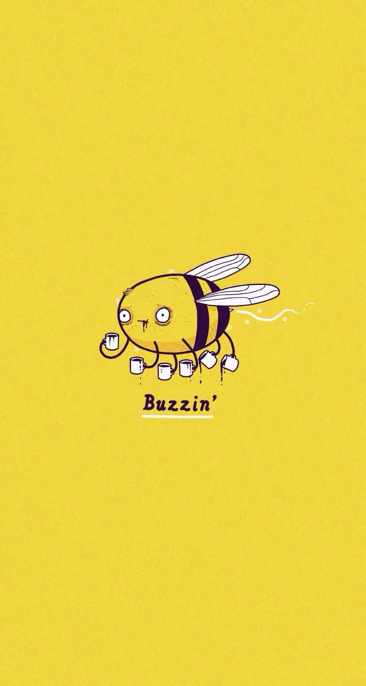 Buzzin Graphic design humor, Coffee love, I love coffee