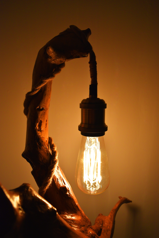 Bedside Lamp Driftwood Lamp Home Decoration Night Wood Lamp Edison