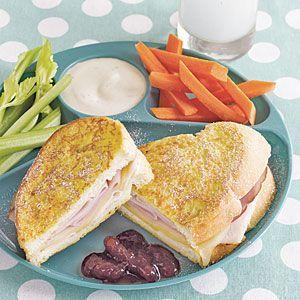 Monte Cristo Sandwiches #montecristosandwich Monte Cristo Sandwiches | MyRecipes.com #montecristosandwich