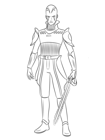 Star Wars Rebels The Inquisitor Coloring Page Printables