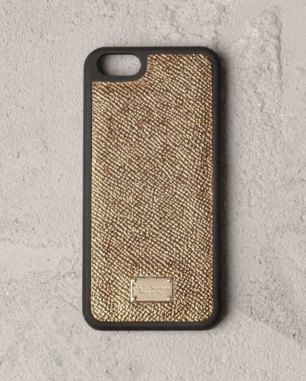 Metallic gold printed textured calfskin #iphone 5 hard case by Dolce & Gabbana