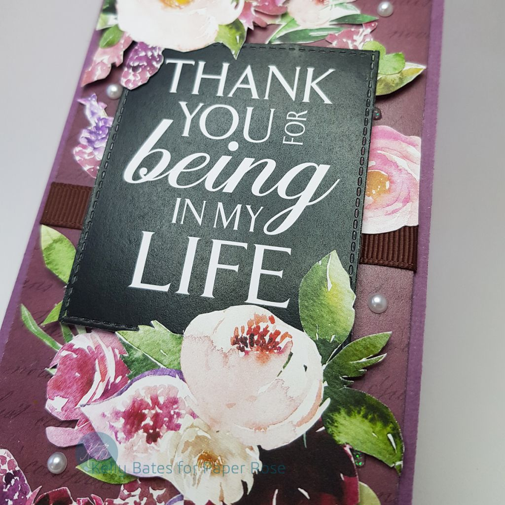 Thank You For Being In My Life Paper Rose Paper Roses Paper Crafts I Card