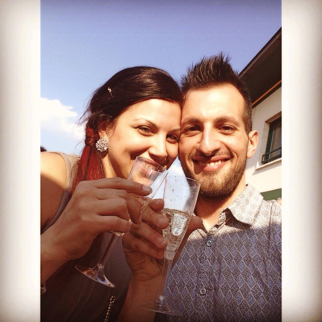 Toast with sparkling wine  #brindisi #marriage #fabiana&luigi #oggiSposi #opera #milan #city #friends #morena #kiss #sun #relax #like #day #tumblr #instagram #foursquare #pinterest #twitter at Opera, Milano