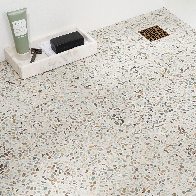 Nature Micro Pebble Sumatra Blend Mosaic In 2020 Pebble Mosaic Mosaic Shower Tile Mosaic