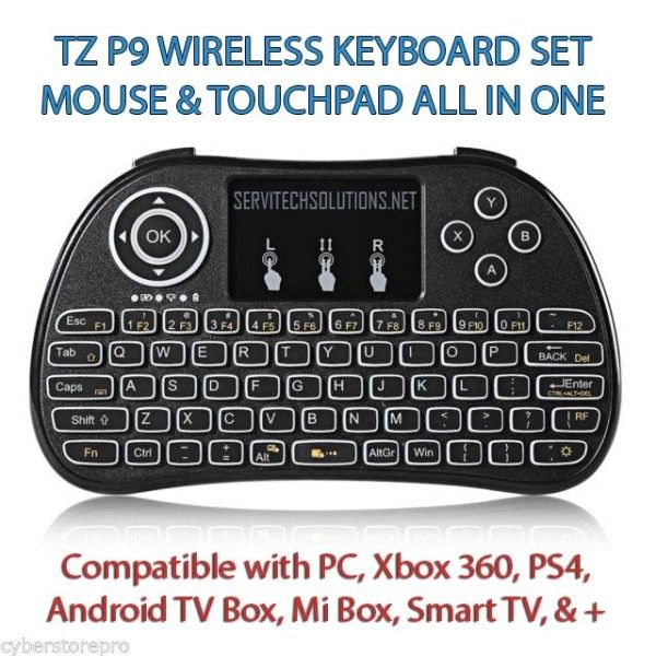 49b86ba195c Best Wireless Mini Keyboard Backlight Touchpad Android tv Box Pc Laptop