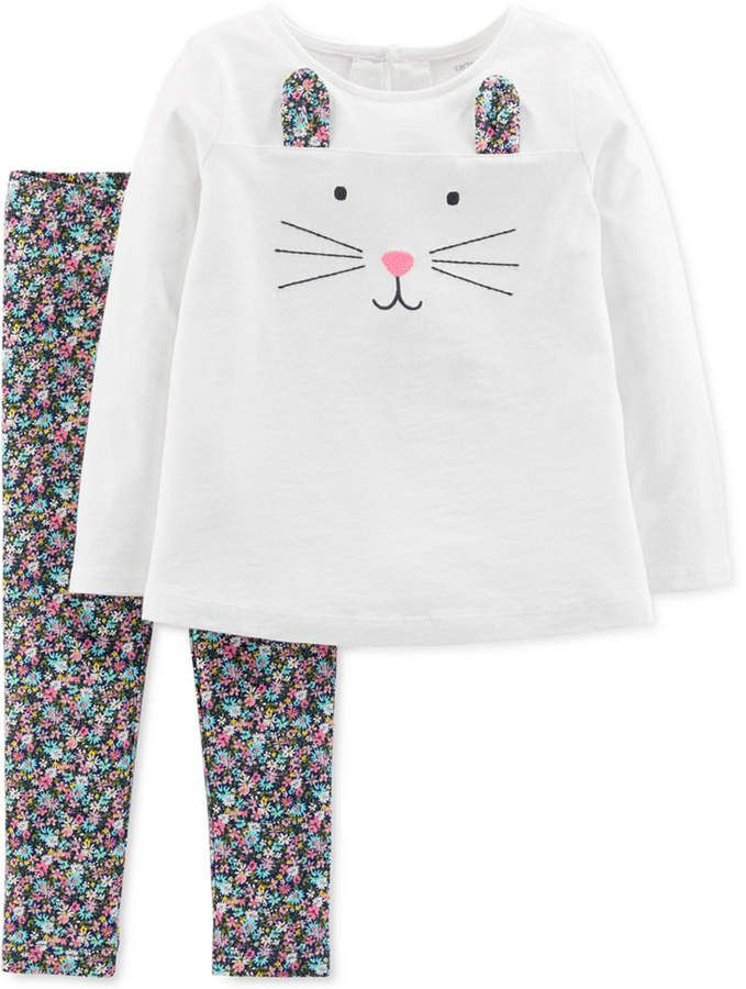 653cf3342b6f Carter s Baby Girls 2-Pc. Happy Bunny Outfit Set