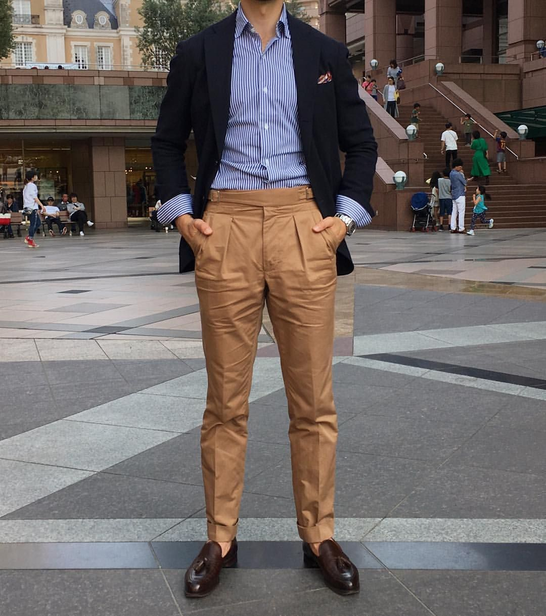 Sundays in Tokyo. . Wearing @ring_jacket Balloon jacket @luxire_com MTM  Gurkha pants @luxire_com MTM sh… | Mens pants fashion, Mens fashion chinos,  Pants outfit men