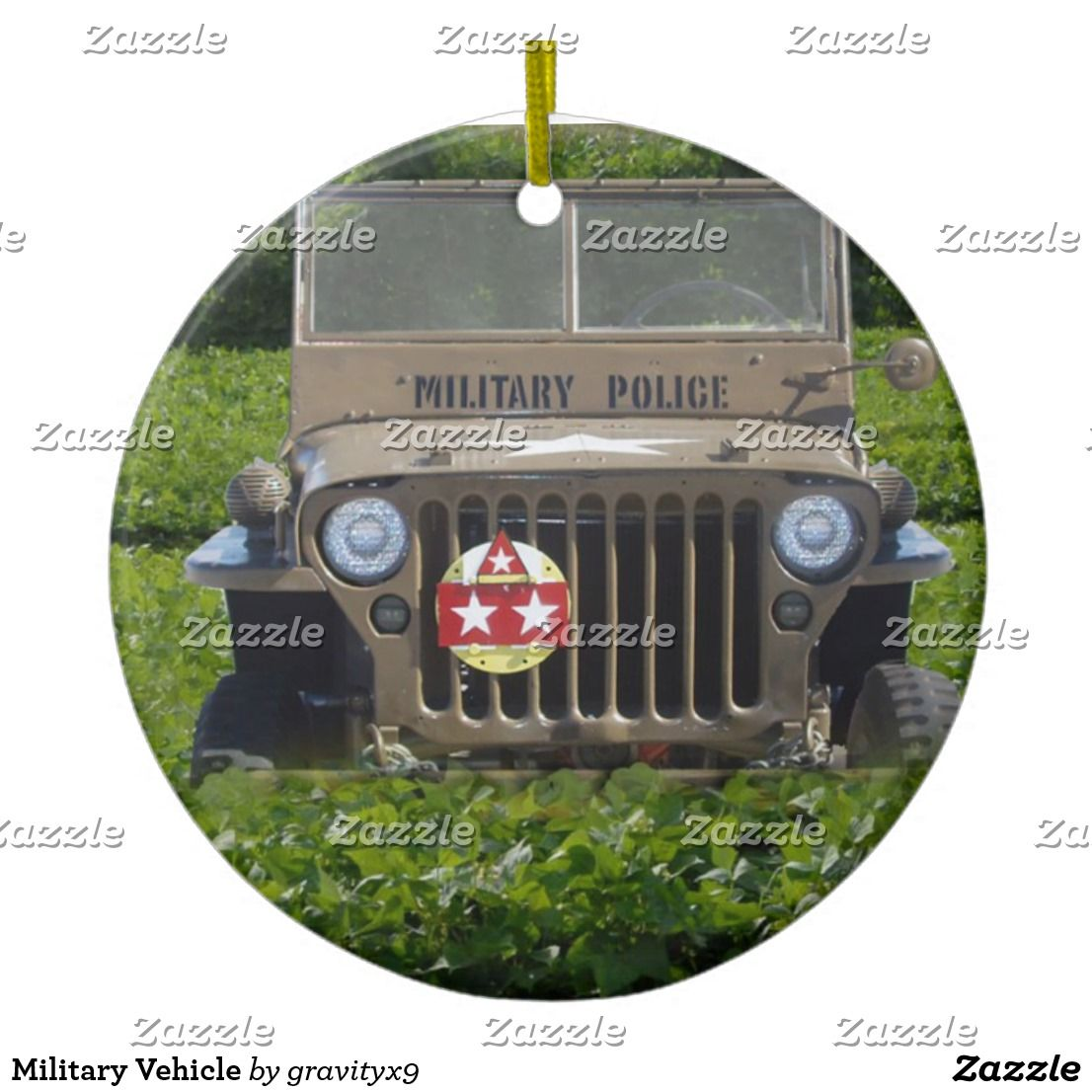 Vintage #Military Vehicle Ceramic Ornament #gravityx9 ...