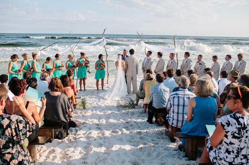 Aqua & Orange Florida Beach Wedding - Every Last Detail