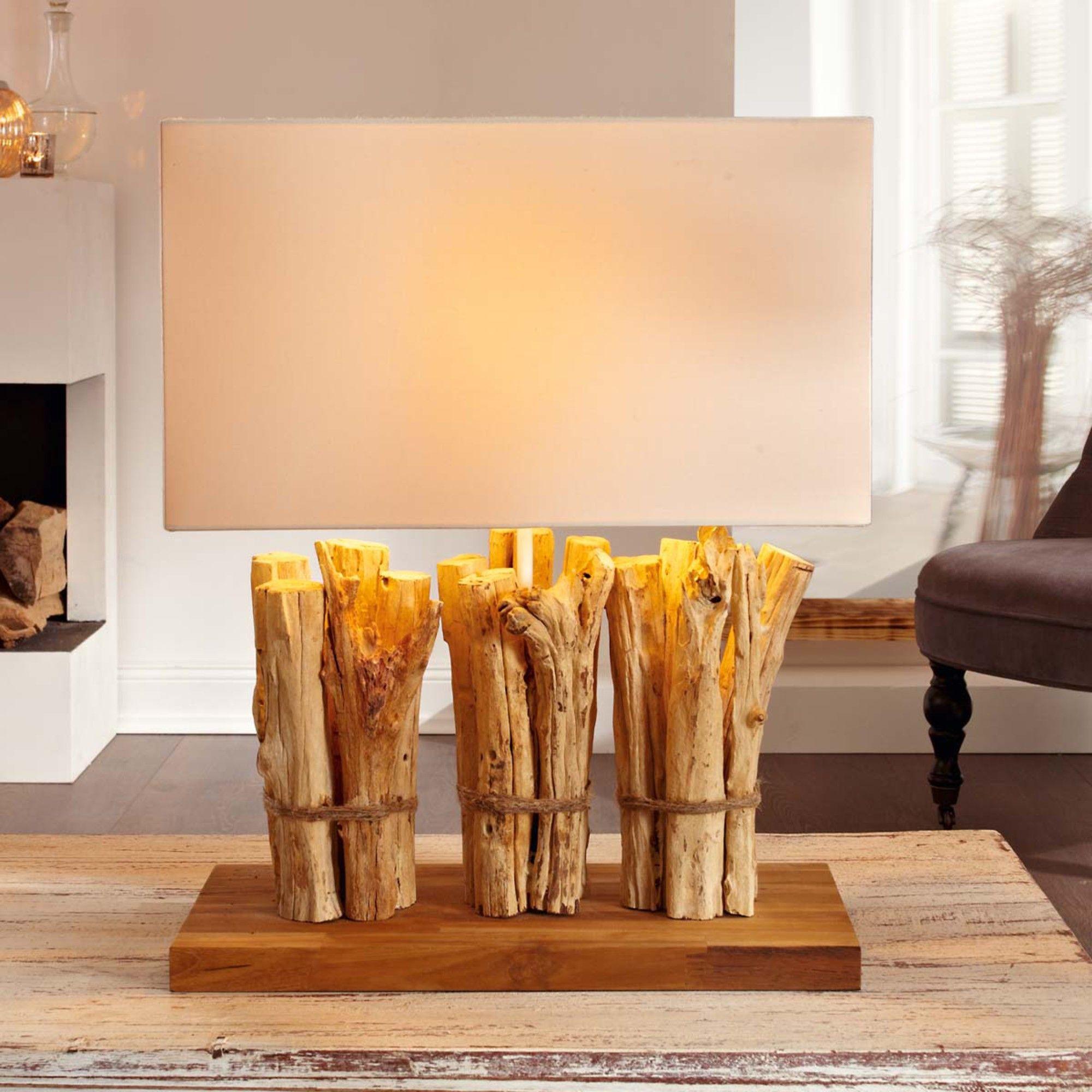Design Tischleuchte, Tischlampe Holz, Tischleuchte Holz