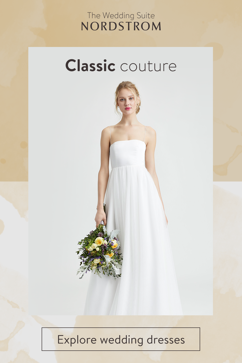 3b79309139d Explore classic couture wedding gowns at the Nordstrom Wedding Suite. From  strapless styles to sleek silhouettes