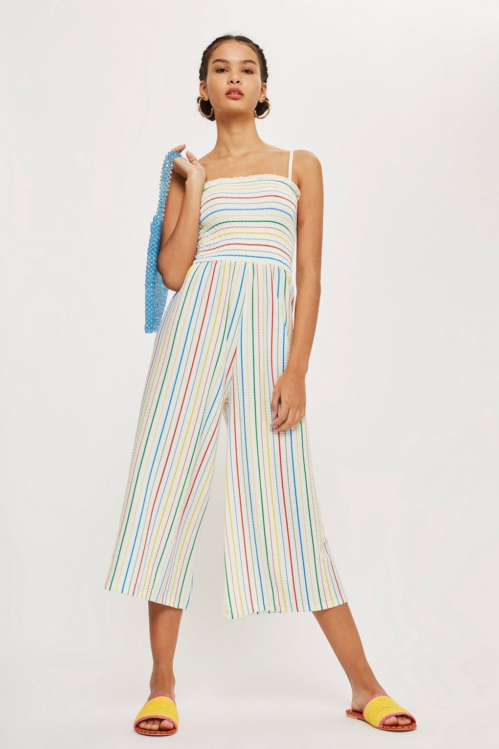 Rainbow Striped Jumpsuit Rompers Jumpsuits Clothing Fashion