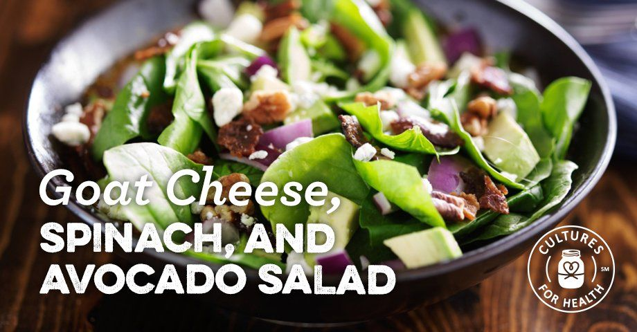 Goat Cheese, Spinach, and Avocado Salad