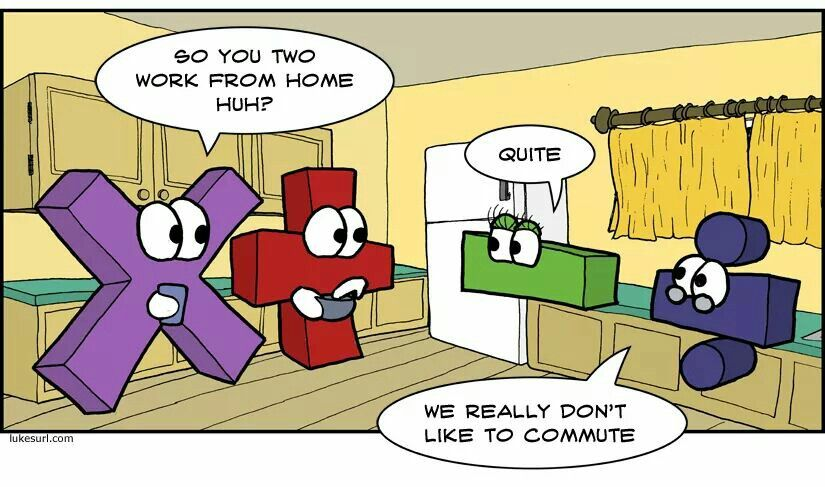 Non Commuters Subtraction Division Cartoon Maybe Something For Https Addgeeks Com Math Humor Math Jokes Math Puns