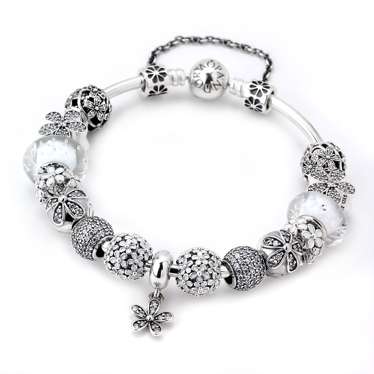 Charm Bracelets Pandora: PANDORA Upsy Daisy Charm Bracelet