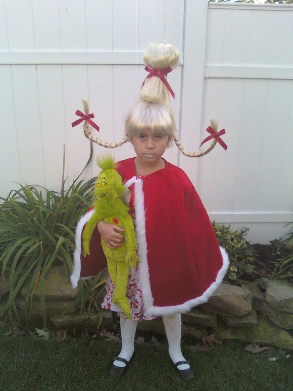 How to make your own grinch costume - Cindy Lou Who From The Grinch I Made The Hair And My