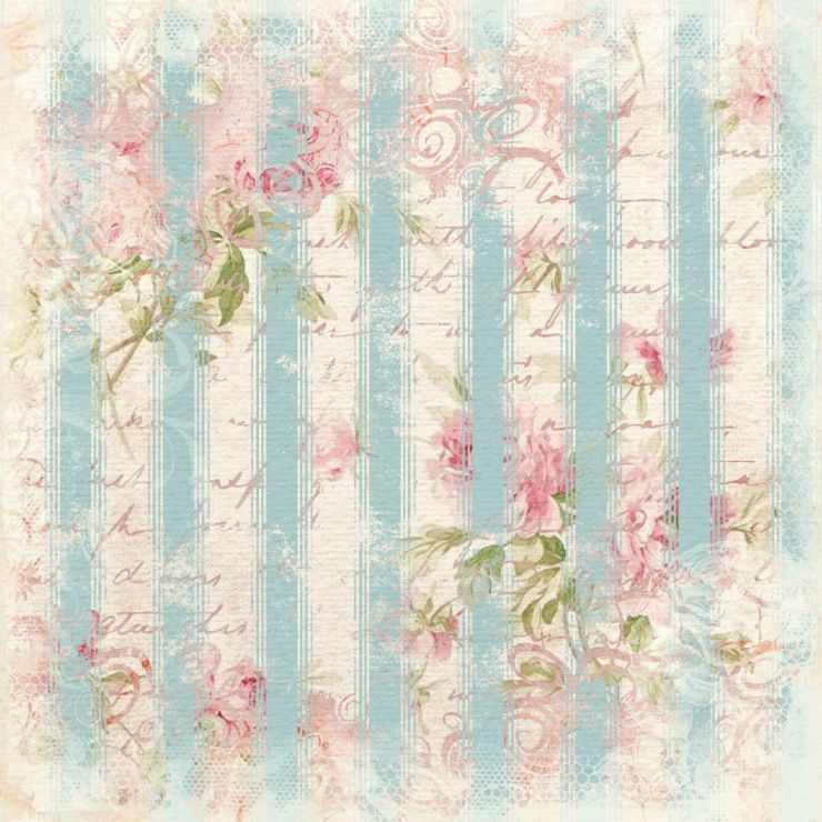 Pink Stripe And Roses