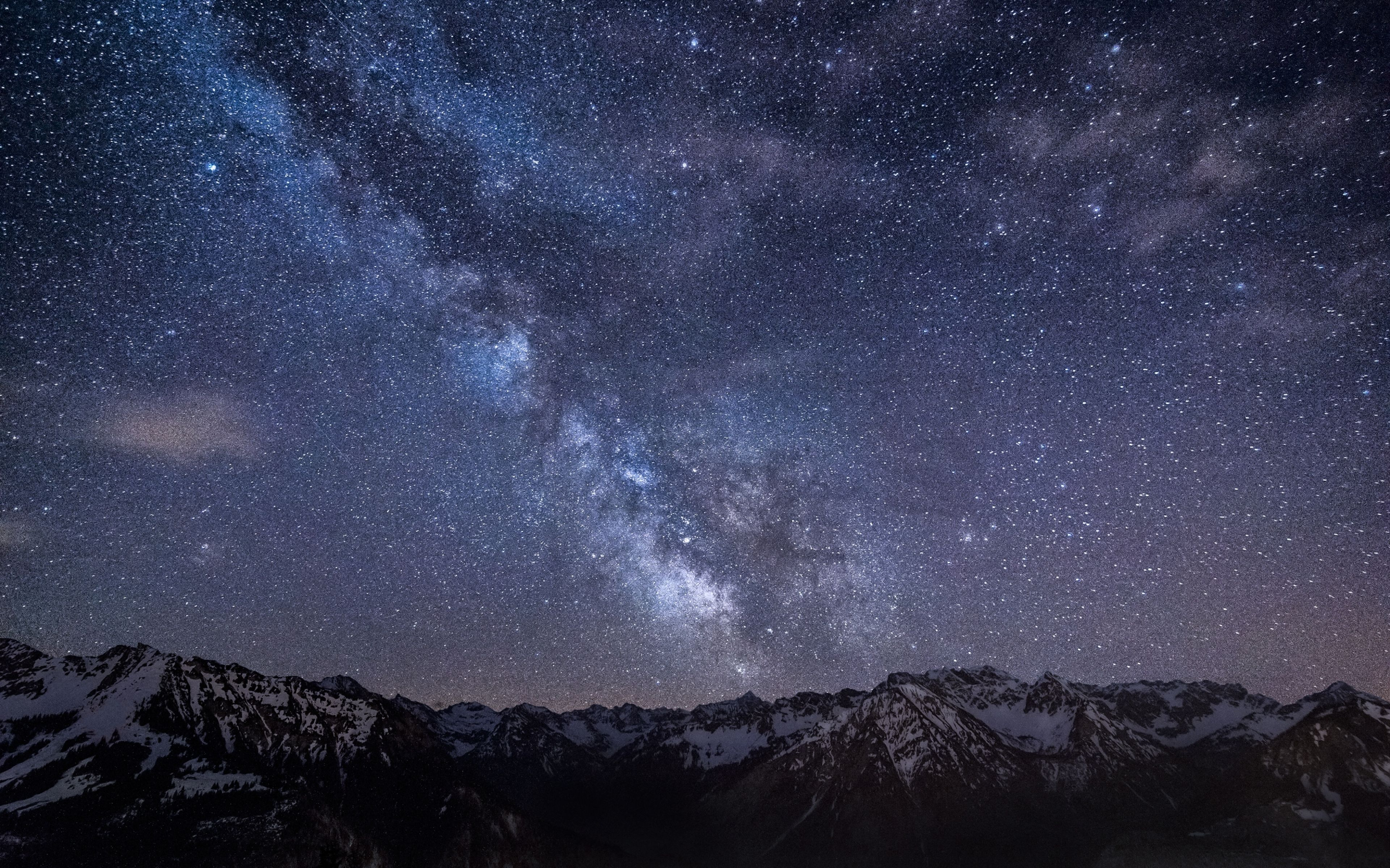 3840x2400 Wallpaper Milky Way Stars Mountains Night Germany Bavaria Sky Night Sky Wallpaper Night Landscape Mountain Wallpaper