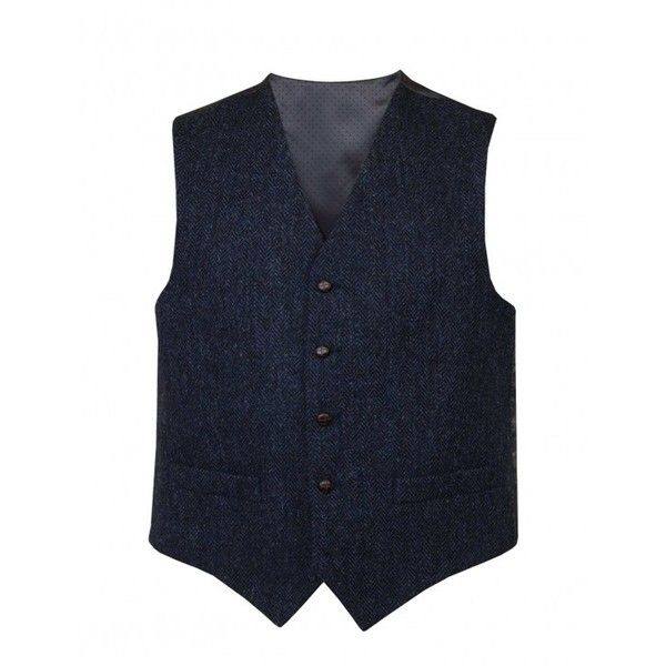 756346f13304 Harris Tweed  Benbecula  Waistcoat ( 115) ❤ liked on Polyvore featuring  outerwear