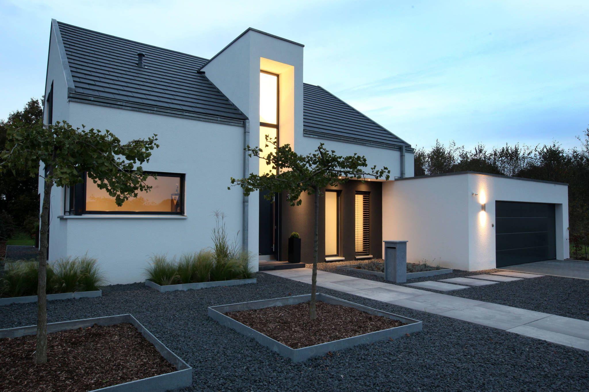 Eingangsbereich Haus Außen : eingangsbereich nachtaufnahme h user von architektur jansen efh satteldach minimalistisches ~ Watch28wear.com Haus und Dekorationen