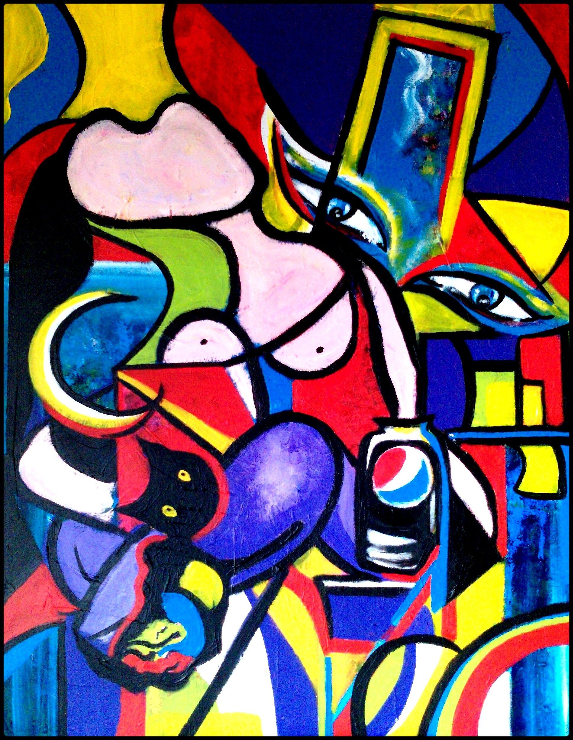 picasso paintings | clin d'oeil à Picasso by Bochaton Emmanuelle ...