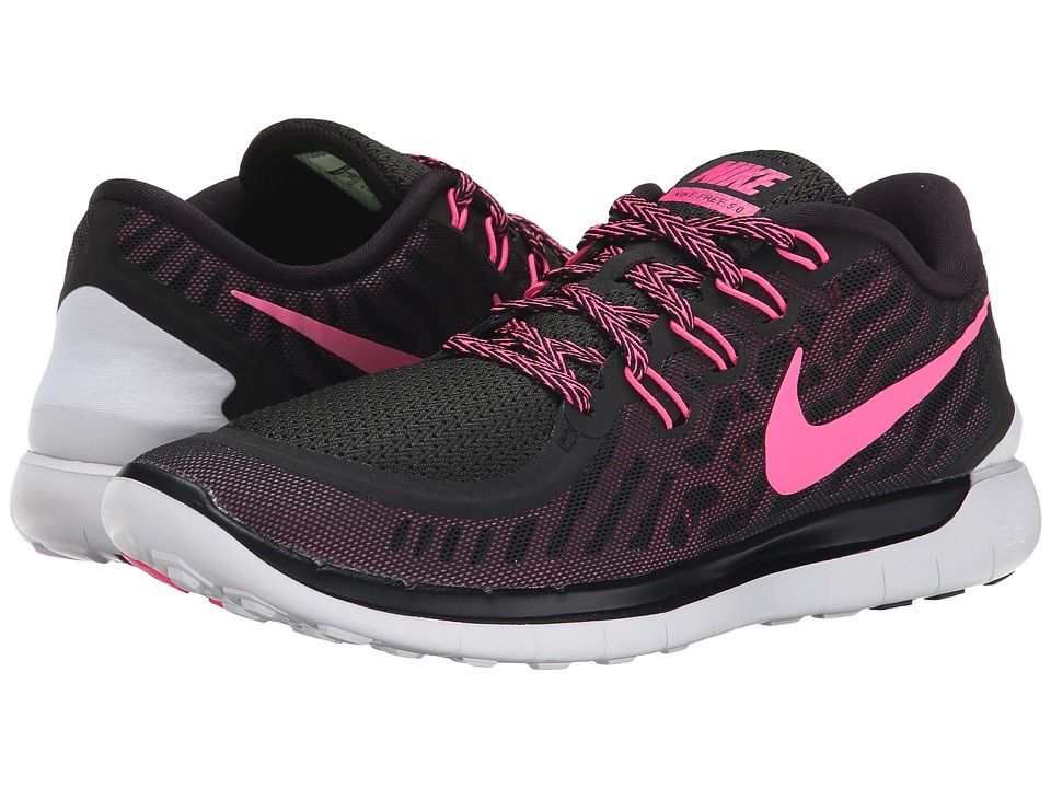 timeless design 4e373 47040 Nike - Free 5.0 (Black-Pink Foil-Pink Glow-Pink Pow) Womens Running Shoes  on BuyFantasticShoes.com