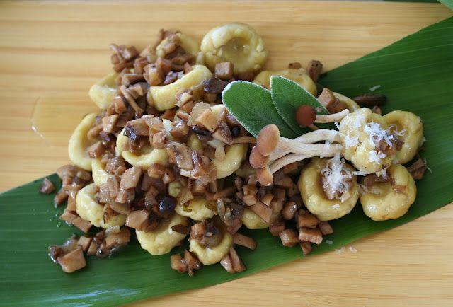 Award-winning Breadfruit Gnocchi with Mushroom Ragout recipe