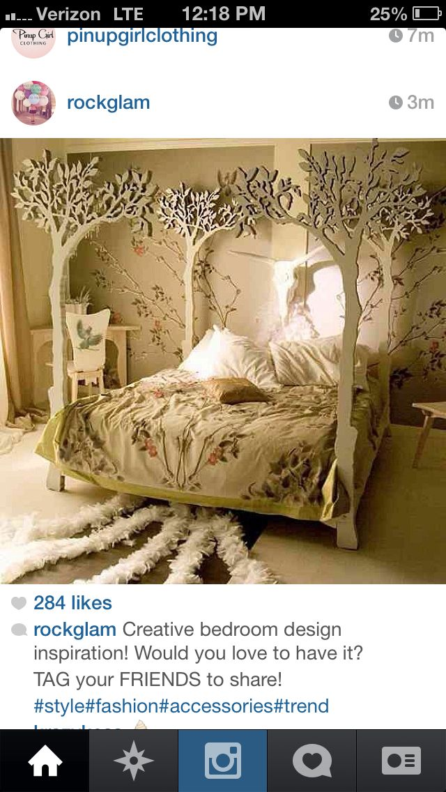 Tree Bed, Bed, Forest Bedroom