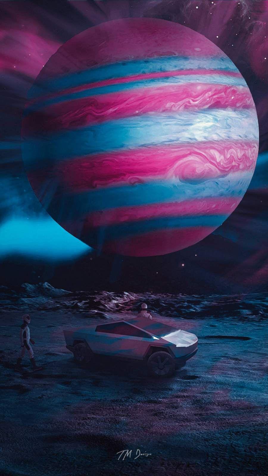 Tesla Cybertruck On Jupiter Iphone Wallpaper In 2020 Iphone