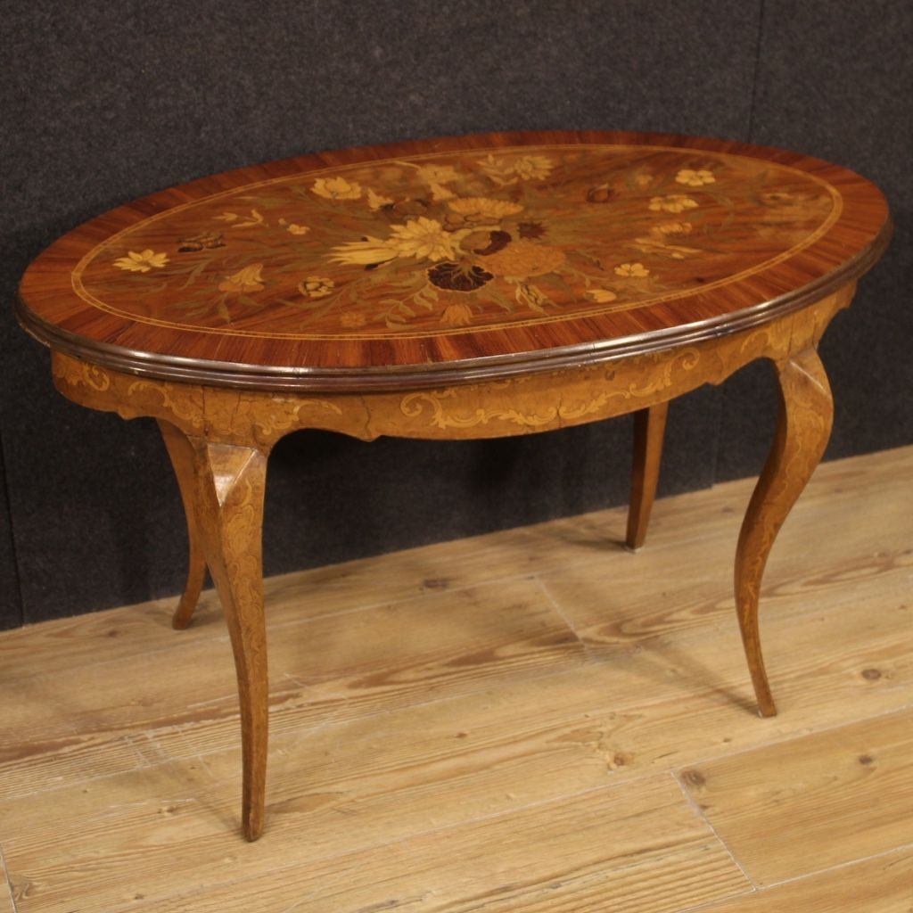 Italian Coffee Table In Inlaid Wood Coffee Table Oval Coffee Tables Table [ 1024 x 1024 Pixel ]