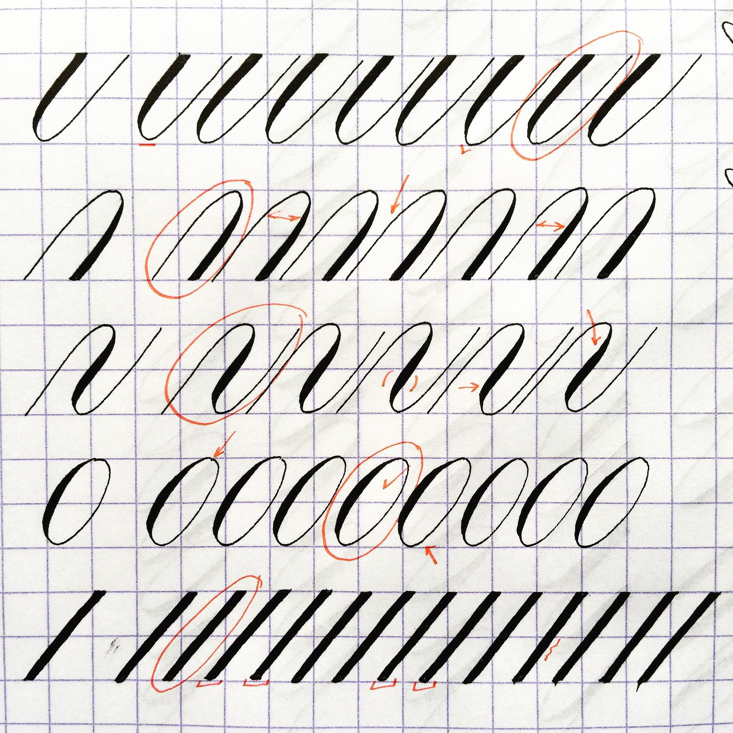 Learning copperplate requires careful study and practice