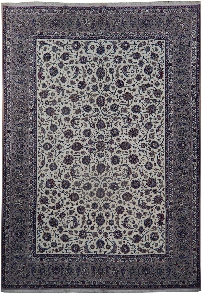 8x12 High Quality Wool Silk Authentic Iran Esfahan Rug Rugs Round Carpets 9x12 Rug