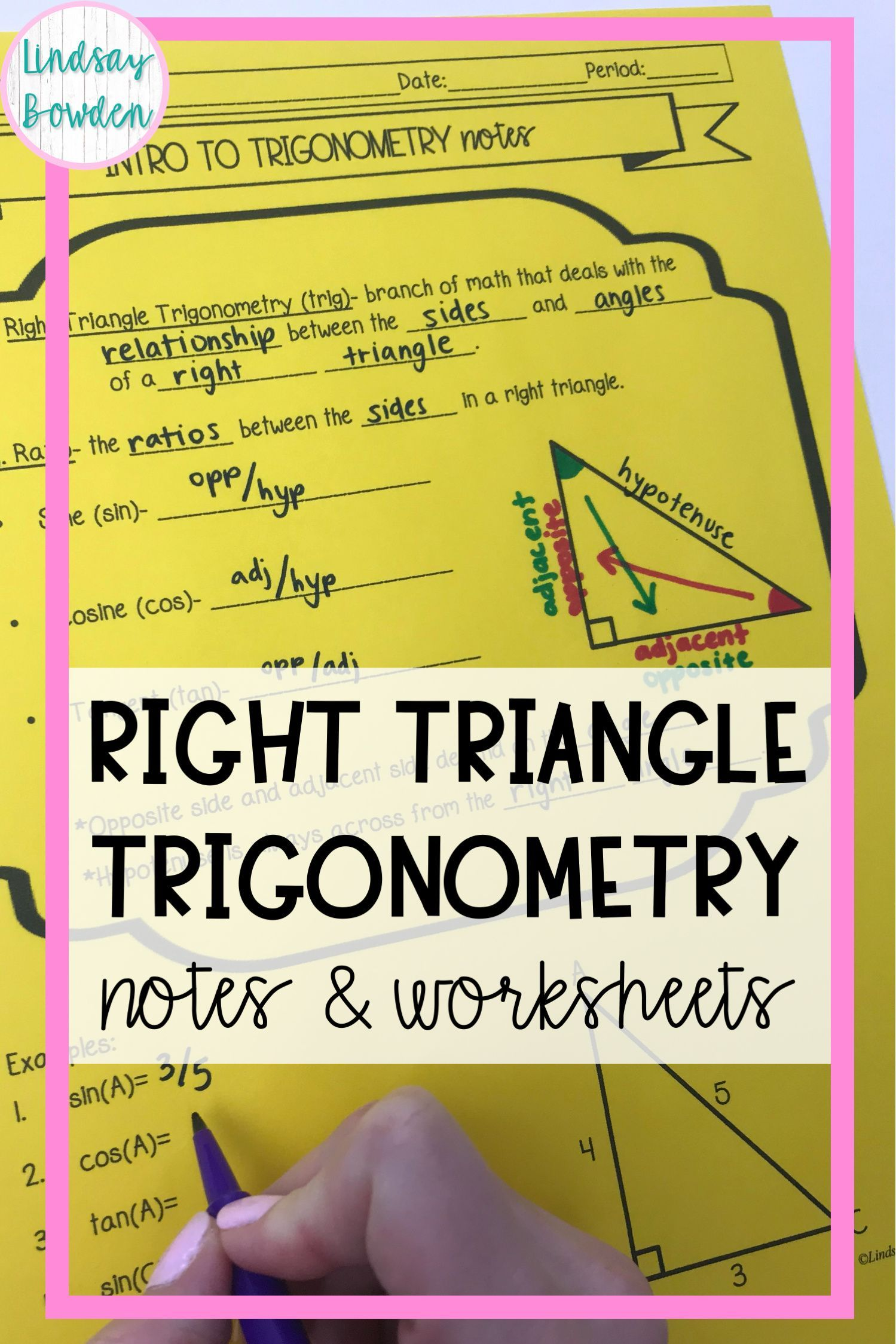 Trigonometry Notes And Worksheets In