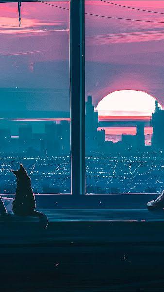 Artwork Digital Art Sunset City Cityscape Sea 4k Wallpaper Hdwallpaper In 2021 Desktop Wallpaper Art Aesthetic Desktop Wallpaper Anime Backgrounds Wallpapers