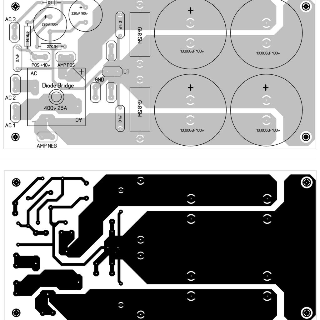 Power Supply Pcb Design For 600w Mosfet Amplifier Fred Circuits
