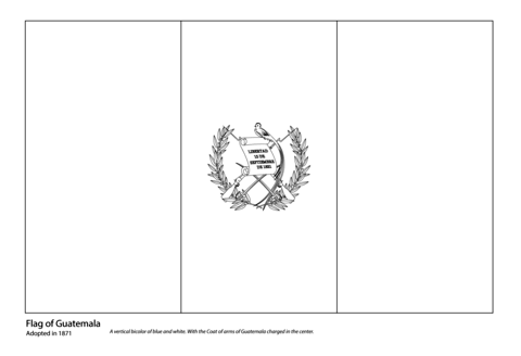guatemala flag coloring page from central america and caribbean flags category select from 24652 printable crafts of cartoons nature animals