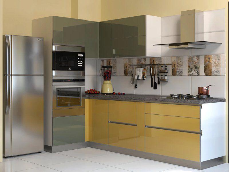 Best Industrial Straight Modular Kitchen Designs India 640 x 480