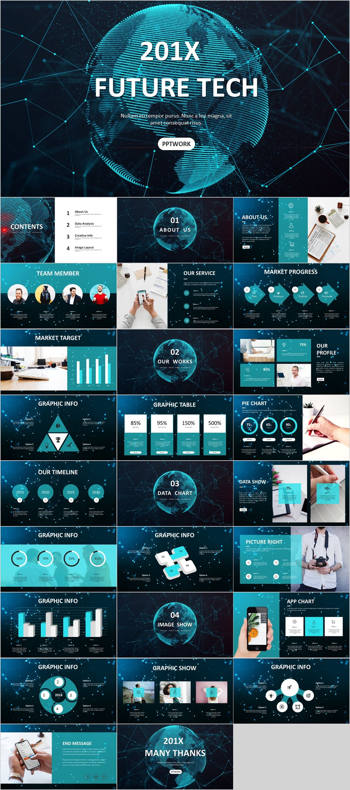 27 Best Tech Business Graphic Powerpoint Templates