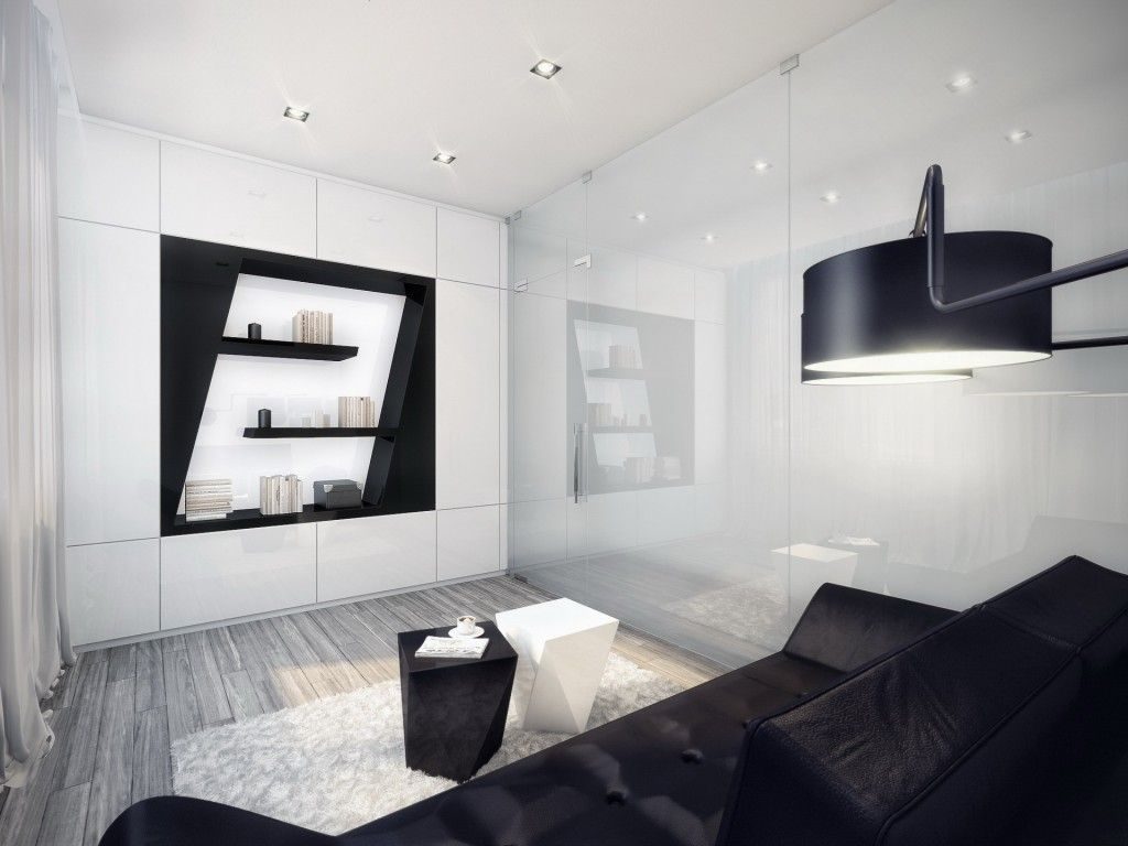 Cool Black And White Living Room Decoration Ideas Likable Black White Color Minimalist Living Room Decoration Modern