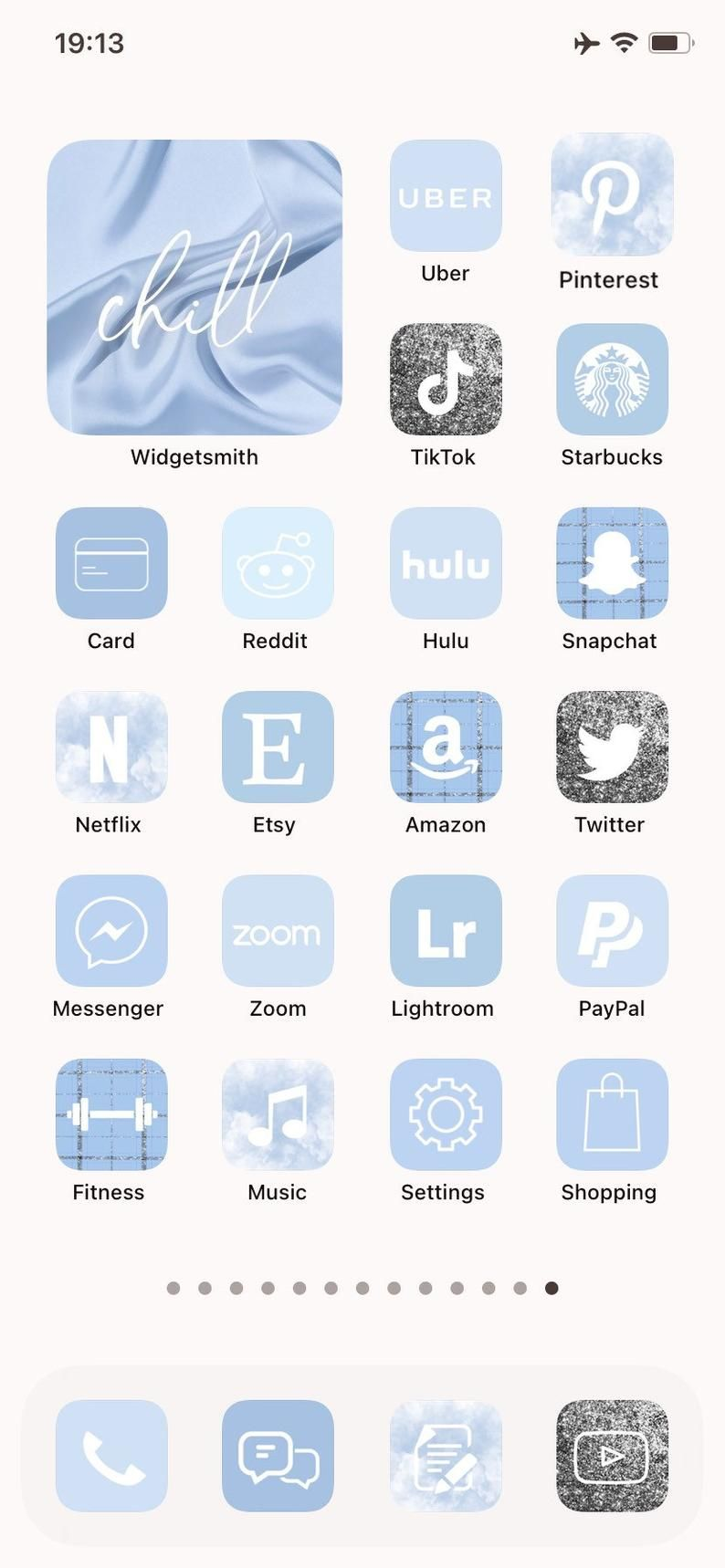 30000 ios 14 app icons sky blue customize your iphone