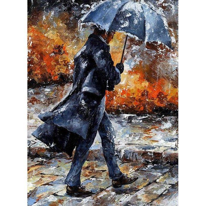 Шум дождя Раскраска по номерам на холсте Живопись по ...